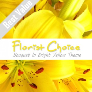 Florists Choice Bouquet In Bright Yellow Theme