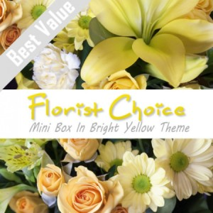 Florists Choice Mini Box In Bright Yellow Theme