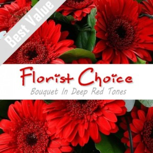 Florists Choice Bouquet In Deep Red Tones