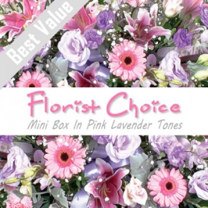 Florists Choice Mini Box In Pink Lavender Tones