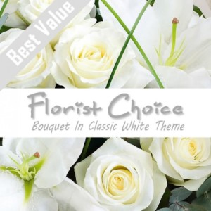 Florists Choice Bouquet In Classic White Theme