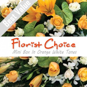 Florists Choice Mini Box In Orange White Tones